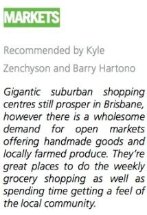 Markets Brisbane Insider guide